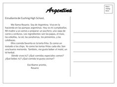 Food penpals Argentina: puchero, mate Spanish Teaching Resources, Spanish Activities, Teaching Strategies, Reading Activities, Spanish Teacher, Spanish Classroom, Spanish 1, Spanish Lessons, Writing Lessons