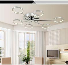 Superb GFJ Moderne LED Kronleuchter Deckenleuchte mit Kopf Deckenleuchte f r Restaurants Zimmer K che
