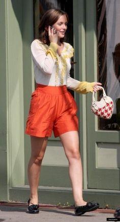 Blair Waldorf Stil, Gossip Girl Stil, Stil Vorbilder, Stil Inspiration,  Königin, Gelbe Bluse, Staffel 2