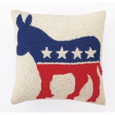 Democrat Logo Wool Throw Pillow
