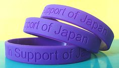 Custom bands that were used to support Japan for disaster relief