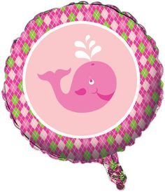 Creative Converting Ocean Preppy Girls Metallic Mylar Balloon #preppywhaleparty
