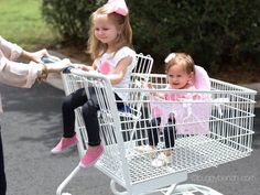 Make shopping easier with a buggy bench! Keeps second child safely seated in any size shopping cart. Perfect product for twins or two children close in age. Holds up to 40 pounds. www.buggybench.com