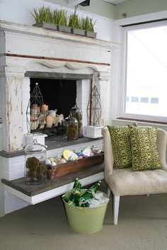 spring decor: for Photo Shoot 2007: family room ice bucket by the fire by shelly kennedy/drooz studio, via Flickr