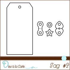 Scrap à la Carte Die Matrice de découpe Tag Label Etiquette