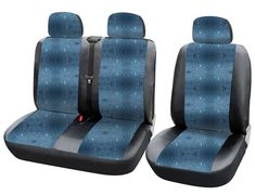 Schwarz blau Effekt 3D Sitzbezüge VW VOLKSWAGEN CRAFTER Autositzbezug SET 1+2