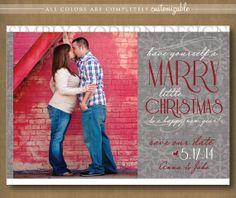 save the date christmas card, married christmas, marry christmas,  PRINTABLE
