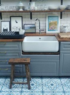 Bodbyn Kitchen Grey, Grey Kitchens, Kitchen Worktops, Kitchen Backsplash, Kitchen Diner Extension, Open Plan Kitchen, Kitchen Sale, Kitchen Decor, Metro Tiles Kitchen
