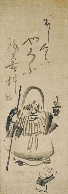 仙崖義梵「寿老人図」