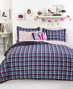 CLOSEOUT! Tommy Hilfiger Bedding, Hadley Plaid Twin/Twin XL Comforter Set