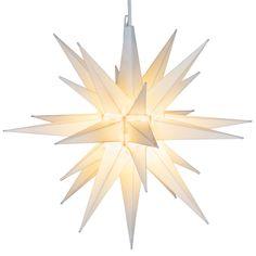 """14"""" White LED Moravian Star                                                                                                                                                                                 More"""