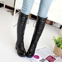 Martin big yards women's boots Female shoes lady Footwear girls pure white  high-cut black · Lace Up ...