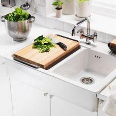 DOMSJÖ Chopping Board Beech/stainless Steel 52 X 29 Cm. Ikea Farm  SinkFarmhouse ...