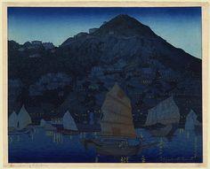 """Hong Kong Harbour,"" c.1924, by Elizabeth Keith"