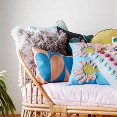 Esmeralda Shag Cushion - Turquoise
