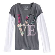 Mudd Mock-Layer ''Love'' Top - Girls' Plus