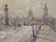 """SOLD- Paris, 12"""" x 16"""", Oil painting"""