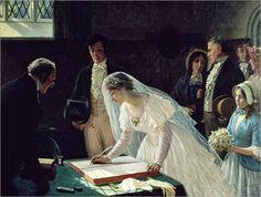 Edmund Blair Leighton - Signing the Register