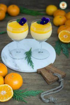 Tarta mousse de mandarina Plate Presentation, Culinary Arts, Good Mood, Custard, Panna Cotta, Plates, Cooking, Ethnic Recipes, Food