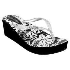 Women's Jams World Wedge Flip Flop Sandals - Silver 10