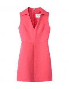 Valentino Rose Pink Dress - Shop more power color pieces at ShopBAZAAR.com http://shop.harpersbazaar.com/in-the-magazine/cut-color-print/