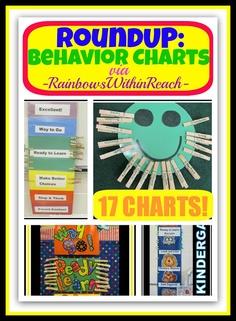 Behavior Charts in the Classroom (Behavior Chart RoundUP via RainbowsWithinReach) Maybe with pictures for pre k? Classroom Behavior Chart, Classroom Behavior Management, Behaviour Management, Behaviour Chart, Preschool Classroom, Future Classroom, In Kindergarten, Classroom Ideas, Classroom Incentives