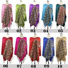 Women's Pashmina Pocho Stole Evening Shawl Scarves Wraps Scarf 100% Cotton  #Handmade #Pashmina