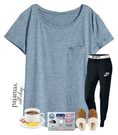 """""""Lazy Sunday"""" by tjrsis ❤ liked on Polyvore featuring H&M, NIKE and UGG"""