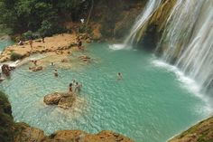 Beautiful waterfalls in the Dominican Republic. Go early though or you'll encounter large crowds at Los Saltos De Limon.