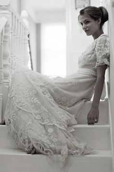 Beautiful vintage Edwardian wedding dress... very airy, flowy, romantic, and earthy