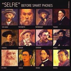 old fashioned selfies