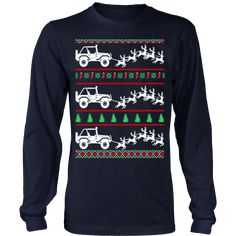"""Jeep ugly christmas sweater """"This shirt is a MUST HAVE. Makes a great gift!"""" 100% cotton t-shirt Printed in the USA Fast shipping Printed on super-soft, premium material Designed to last a lifetime Di"""