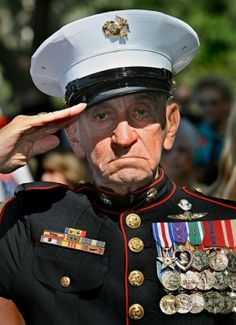 Sergeant Major Rudy Wieners, USMC (Ret.) Always a Marine...joined USMC, March 1942 and served over 25 years of active duty. Receiving Purple Hearts during WWII, Korea and Vietnam, and is also a recipient of the Silver Star.