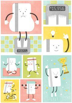 Real Simple Credit Debt - Mikey Burton / Designy Illustration