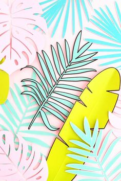 DIY Tropical Paper Leaf Props - Maritza Lisa: Create your own props with pretty… - #blouse