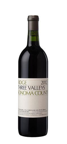 2012 Ridge Three Valleys #Winelist