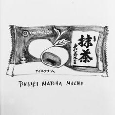 Tsujiri Matcha Icecream Mochi  Green Tea Icecream with Matcha Syrup Wrapped in Mochi  5/5 The best matcha icecream mochi I've ever had. Rich creamy matcha taste with a soft mochi case.  #mochi #matcha #icecreammochi #matchaicecream #tsujiri #kyoto #gion #greentea #matchalover #matchadesserts #madewithmatcha #ujimatcha #tea #icecream #japanese #japanesedessert #japanesesweets #japnesefood #blackandwhite #artoftheday #penandink #tombow #shirothebiscuit #snacks #okashi by shirothebiscuit