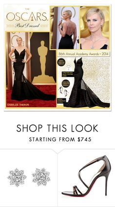 """OSCARS 2014: Charlize Theron"" by ealkhaldi ❤ liked on Polyvore featuring White Label, Harry Winston, Christian Louboutin, Rupert Sanderson, Oscars, CharlizeTheron and oscars2014"