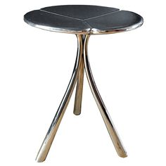 $1200 1stdibs - Polished Aluminum Clover Stool explore items from 1,700  global dealers at 1stdibs.com