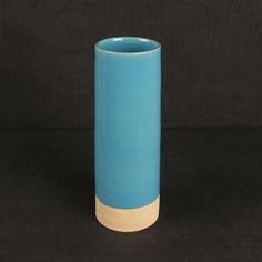 Les Guimards Medium Cylinder Vase, Aqua £75.00
