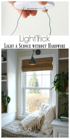 "DIY Sconces to have Light without Power ""Magic Light Trick"" - Nesting With Grace"