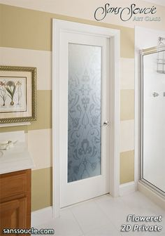 Interior Glass Doors Etched Frosted Glass Filigree