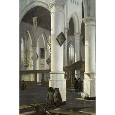 """Buyenlarge 'Interior of The Old Church in Delft 1650–52' by Emanuel De Witte Graphic Art Size: 42"""" H x 28"""" W x 1.5"""" D"""
