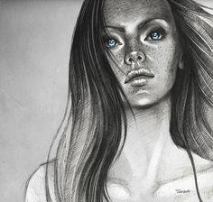 Blue eyes by sashajoe . Character Sketch / Drawing