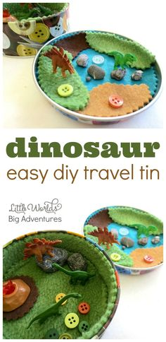How to Make a Mini Dinosaur Travel Tin | Little Worlds Big Adventures