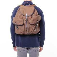 Cotton Twill Rucksack Oak, $145, now featured on Fab.