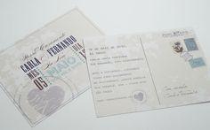 About Love - Convite de Casamento Cartão postal