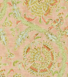 Waverly Print Fabric-Holi Festival/Rosewater