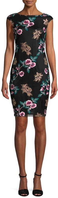 Donna Ricco Women's Floral Sheath Dress