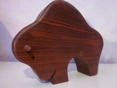 Vintage Figuren - Grosser TEAK Stier Bulle 60er era Antonio Vitali - ein Designerstück von kunst-und-krempel bei DaWanda